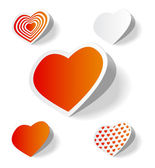 Samolepky srdce — Stock vektor