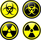 Radiation vector icons — Stockvektor