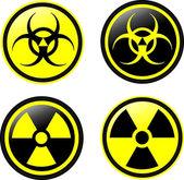 Radiation vector icons — Stockvektor