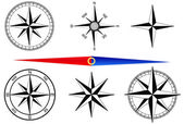 Compass vector set — Stock Vector