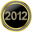 New year 2012 with diamonds, vector — Stock Vector