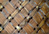 Drewno tło wiklina — Zdjęcie stockowe