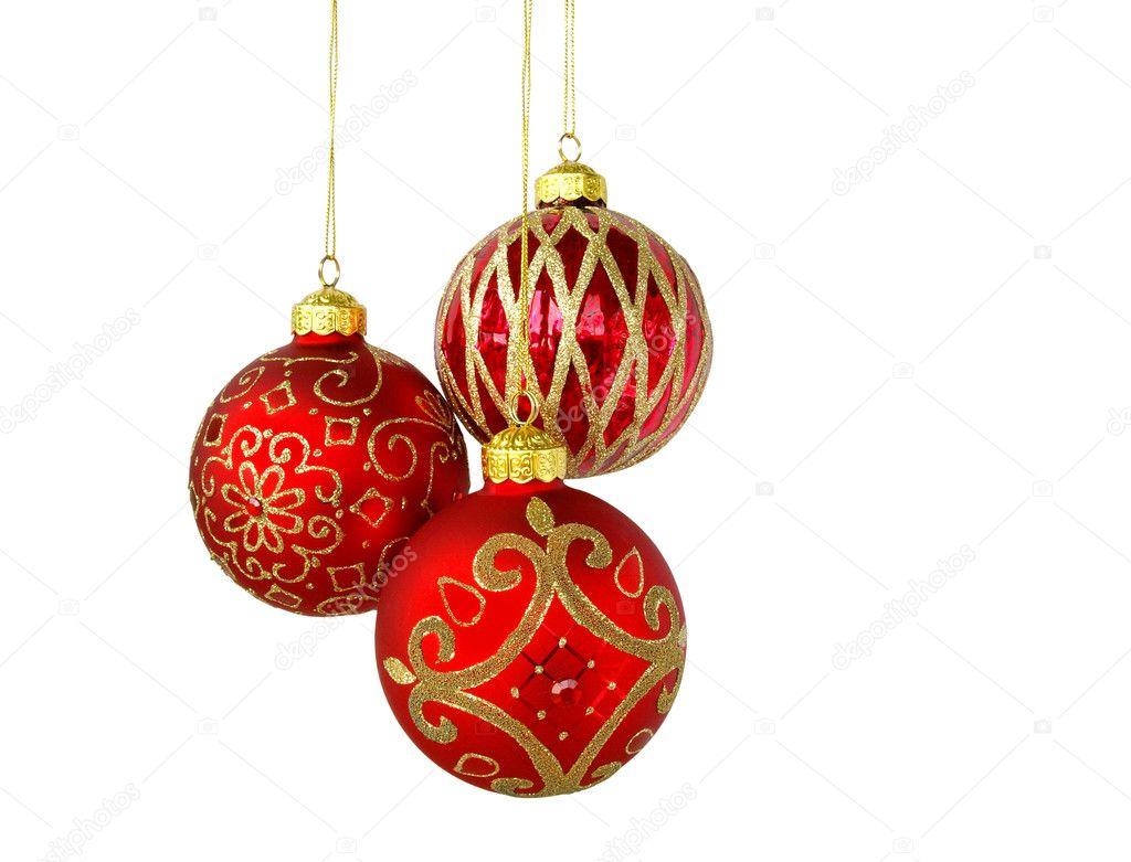 Tres bolas rojas foto de stock ml12nan 4116933 for Arbol de navidad con bolas rojas
