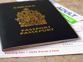 Passport and boarding pass — Stock Photo
