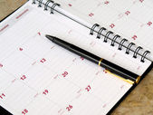 Monthly planner — Stock Photo