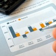 Investment chart - Stock Photo