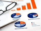 Gráfico de investimento — Foto Stock