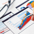 Investment charts — Stock Photo #5125635