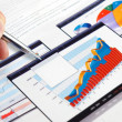 Investment charts. - Stockfoto