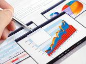 Investeringen grafieken. — Stockfoto