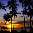 Beatiful sunset in the tropical sea — Stockfoto