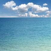 Blue sky and sea — Stock Photo