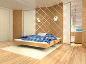 Bedroom, rendering — Stock Photo