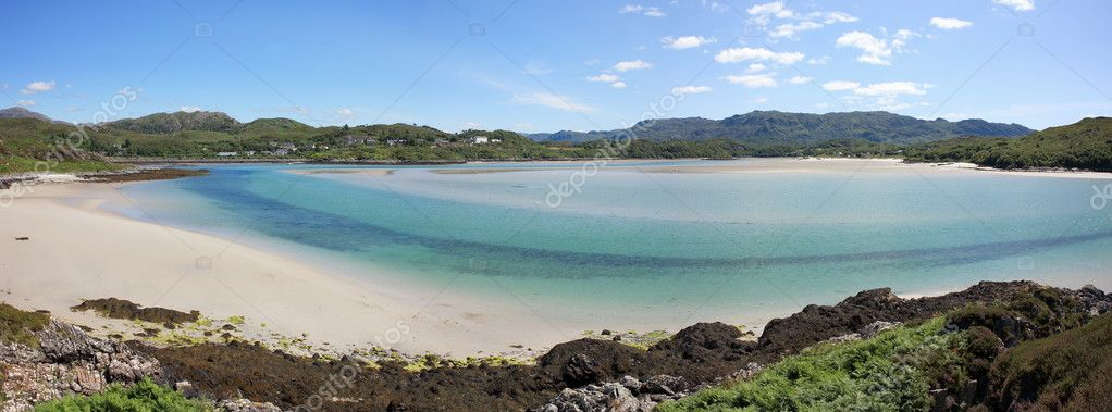 Morar beach from Bourblach. — Stock Photo #4326073