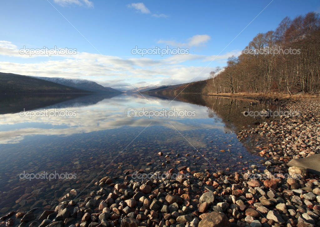 Loch Arkaig in the Scottish Highlands.  Stock Photo #4497803