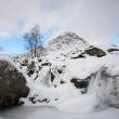 Stockfoto: Frozen waterfall in Glencoe.