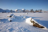 Rannoch Moor in Winter. — Stock Photo