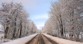 The road to the Isles in winter. — Stock Photo
