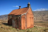 Old tin shack. — Stock Photo