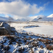Stock Photo: Winter Landscape on Rannoch Moor.