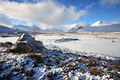 Winter Landscape on Rannoch Moor. — Stock Photo