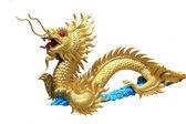 Golden dragon statue — Stock Photo