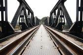 金属の鉄道橋 — ストック写真