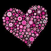 Corazón de flor — Vector de stock