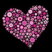Kwiat serce — Wektor stockowy