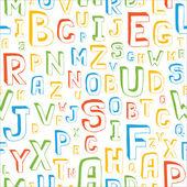 Seamless Alphabet Pattern — Stock Vector