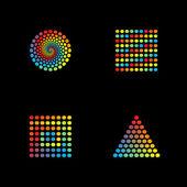 Abstract spectrum design — Stock Vector