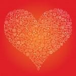 Web Heart — Stock Vector #4612786