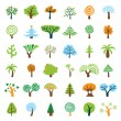 Tree Set — Vector de stock #4612825