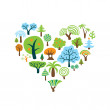 Stock Vector: Tree Heart