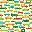 Vector de stock : Car Seamless Wallpaper