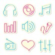 Music Icons — Stock Vector #4614220
