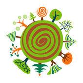 Planète verte — Vecteur