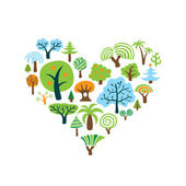 Tree Heart — Stock Vector