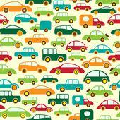 Auto naadloze wallpaper — Stockvector