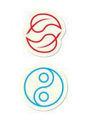 Yin Yang Icons — Stock Vector