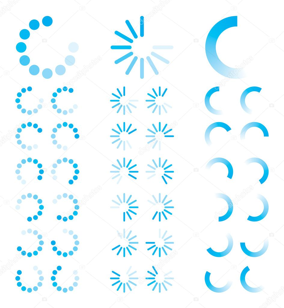 Vector Illustration of Blue Round Progress Indicators  Stock Vector #4614239