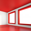 Empty Red Room — Stock Photo