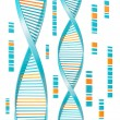 Isolated Dna — Stockfoto