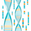 isolerade dna — Stockfoto
