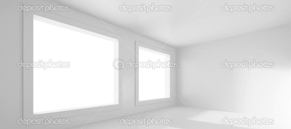 3d Rendering of White Empty Room — Stock Photo #5332764