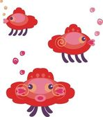 Amazing fishes — Stock Vector