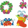 Royalty-Free Stock Imagem Vetorial: Christmas decorations