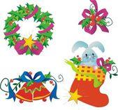 Decoraciones de navidad — Vector de stock