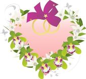 Bridal heart orchid — Stock Vector