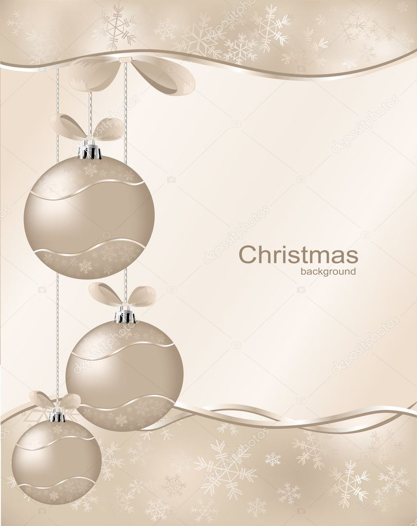 Christmas  background with  ball and asterisks  — Stock Vector #4063895